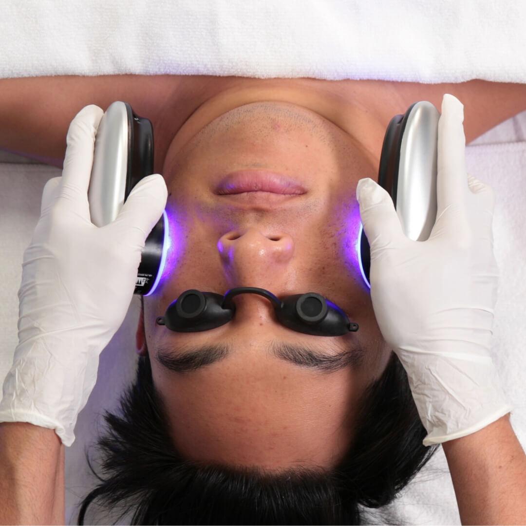 Hydrafacial light therapy